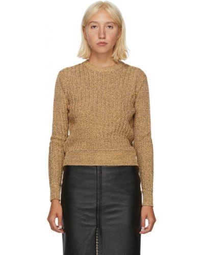 Черный длинный свитер с воротником с длинными рукавами Saint Laurent