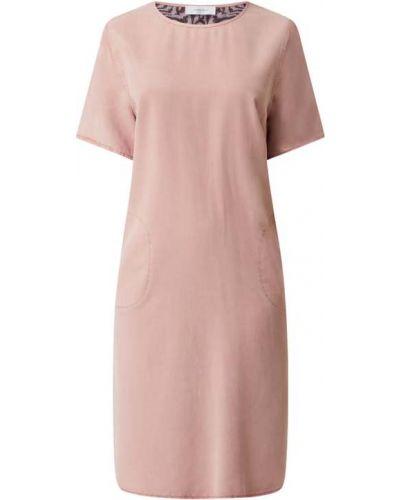 Sukienka rozkloszowana krótki rękaw - różowa Blonde No. 8