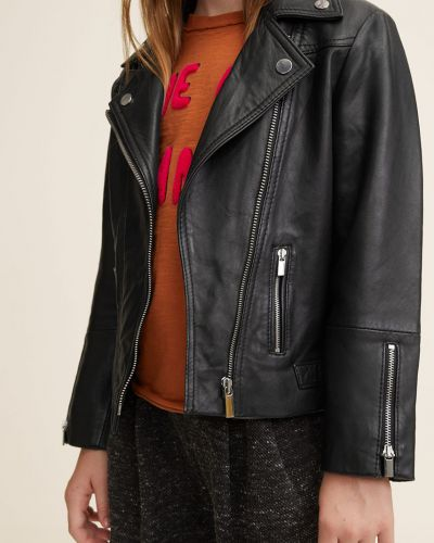 Куртка с подкладкой кожаная Mango Kids