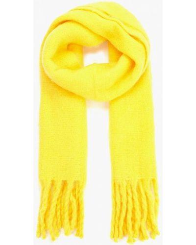 Желтый шарф осенний Mango