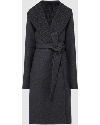 Серое кашемировое пальто Givenchy