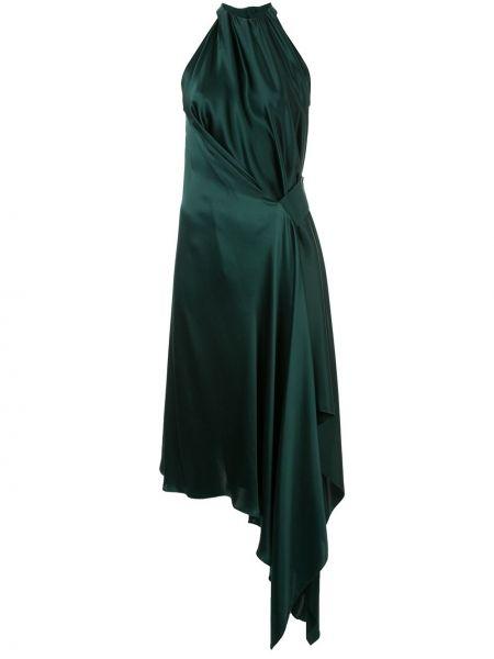 Асимметричное приталенное платье миди с драпировкой без рукавов Bianca Spender