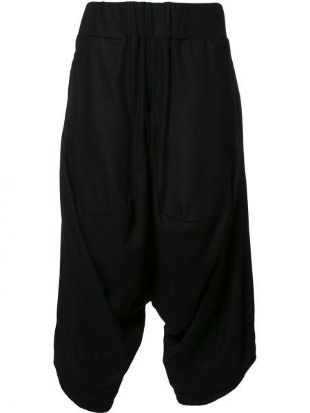 Черные брюки с заниженным шаговым швом из альпаки Private Stock