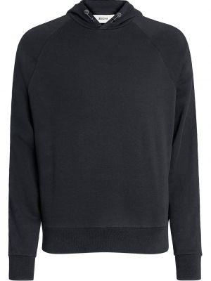 Czarna bluza długa z kapturem z długimi rękawami Z Zegna