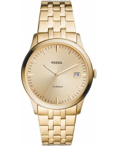 Złoty zegarek kwarcowy Fossil