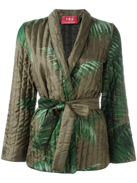 Зеленый шелковый пиджак F.r.s For Restless Sleepers