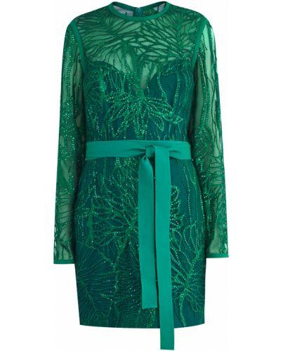 Платье хлопковое шелковое Elie Saab