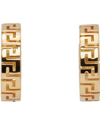 Kolczyki złoto Versace