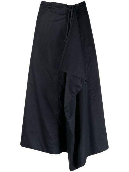 Czarna spódnica midi z wysokim stanem asymetryczna Lemaire