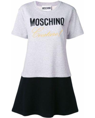 Платье мини с вышивкой футболка Moschino
