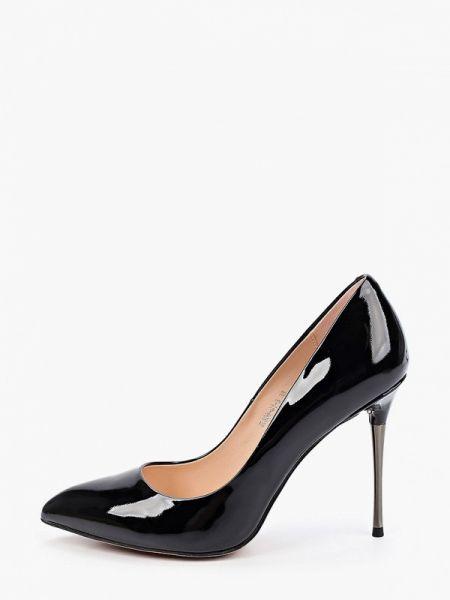 Кожаные туфли черные лодочки Marco Bonne