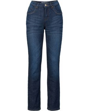 Прямые джинсы стрейч на флисе Bonprix