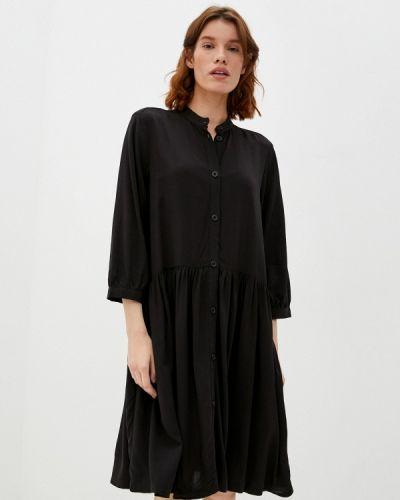 Черное платье рубашка Q/s Designed By