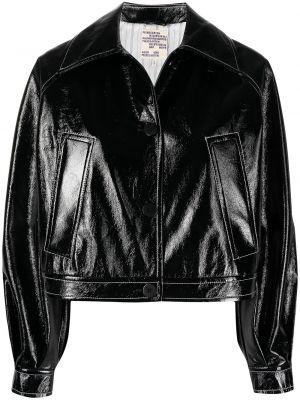 Черная длинная куртка с воротником из вискозы Baum Und Pferdgarten