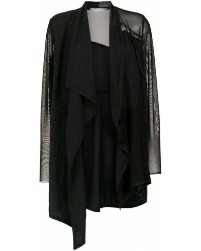 Прямое черное длинное пальто Mara Mac