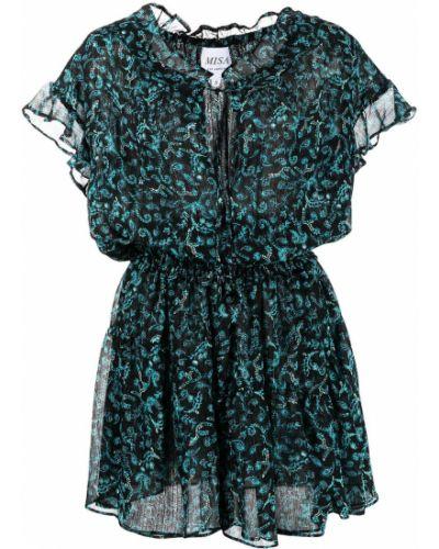 Платье мини короткое - синее Misa Los Angeles