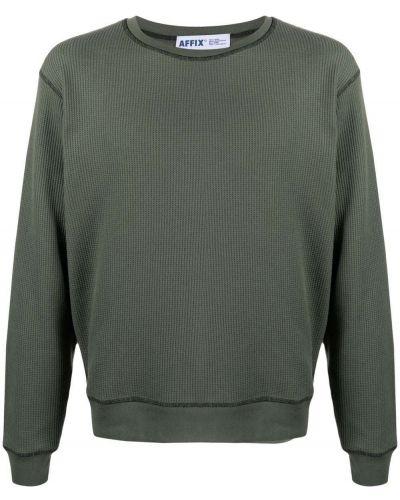 Zielona bluza długa z długimi rękawami bawełniana Affix