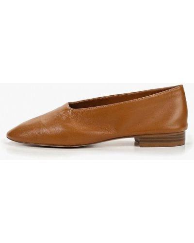 Туфли на каблуке кожаные Mango