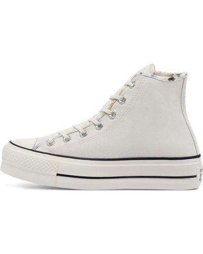 Повседневный хлопковый белый топ Converse