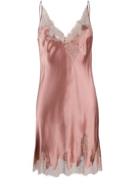 Koszula nocna ażurowy różowy Carine Gilson