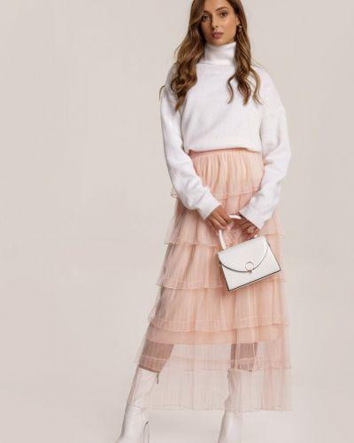 Różowa spódnica materiałowa Renee