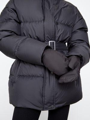 Черные варежки из плотной ткани 12storeez