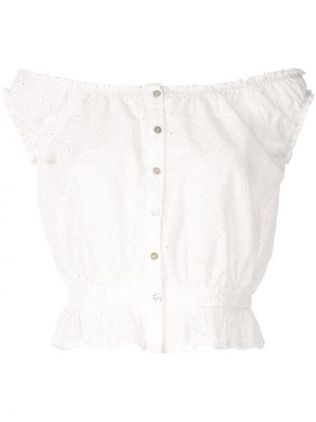Топ с вышивкой белый Suboo