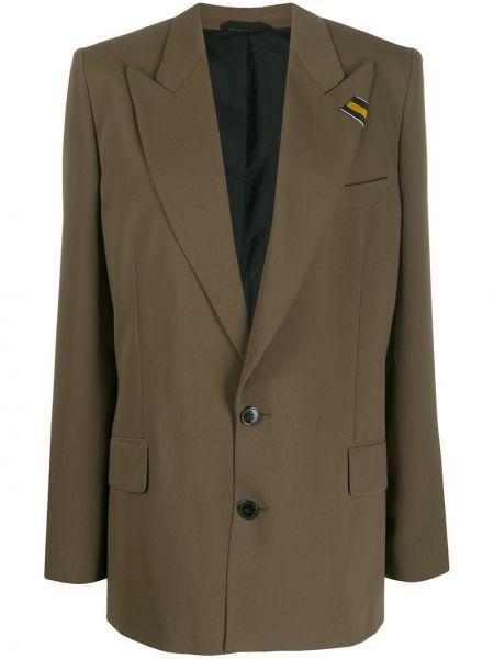 Зеленый пиджак оверсайз с карманами A.f.vandevorst