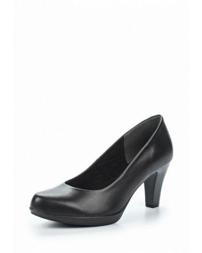 Черные туфли для офиса Marco Tozzi
