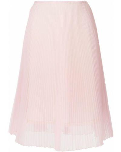 Плиссированная юбка с завышенной талией прозрачная Prada