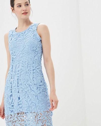 Платье осеннее голубой By Swan