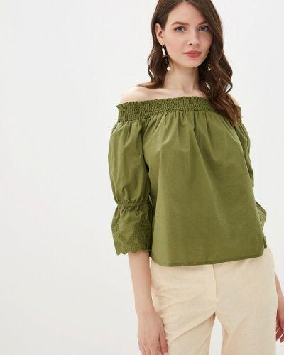 Блузка с открытыми плечами зеленый Tom Tailor Denim