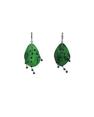Зеленые серьги Marni