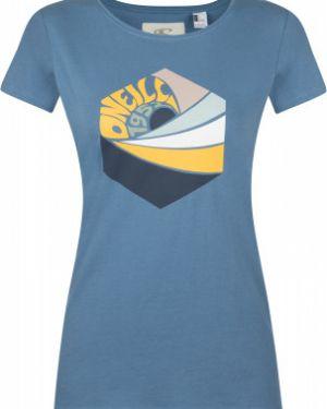 Хлопковая футбольная прямая спортивная футболка с короткими рукавами O`neill