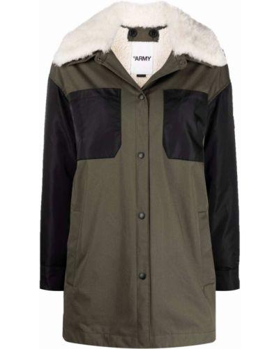 Черное хлопковое пальто Yves Salomon