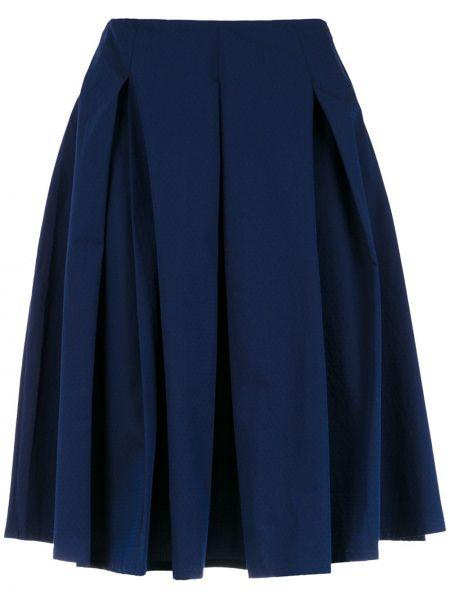 Пышная с завышенной талией юбка миди в рубчик на молнии Reinaldo Lourenço