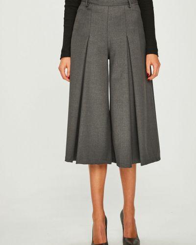 Свободные брюки серые с завышенной талией Answear