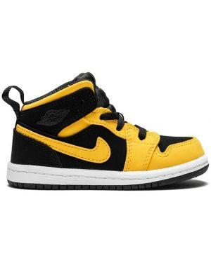 Skórzane sneakersy żółty czarne Jordan