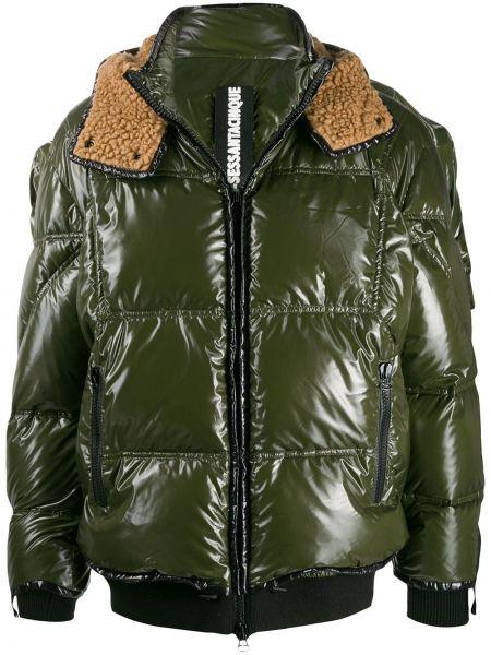 Zielona kurtka pikowana wełniana As65