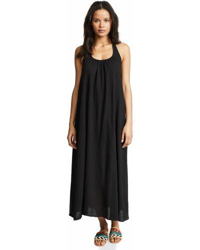 Хлопковое черное платье без рукавов 9seed