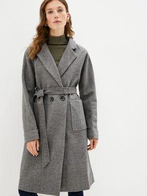 Серое пальто осеннее Izabella