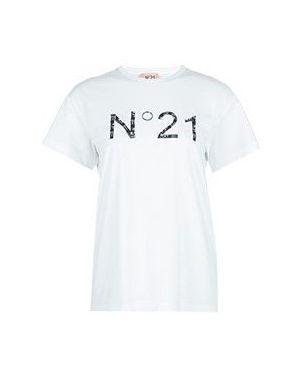 Белая футбольная футболка No.21