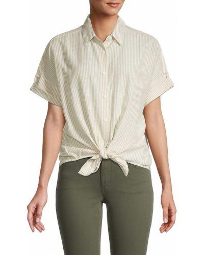 Koszula w paski w paski - beżowa Rag & Bone