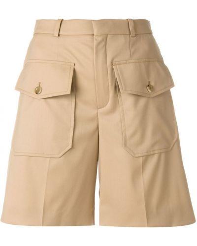 Коричневые шорты с завышенной талией Chloé