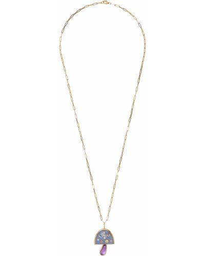 Złoty naszyjnik łańcuch - niebieski Brent Neale