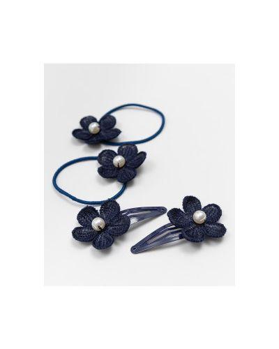 Черная заколка Button Blue