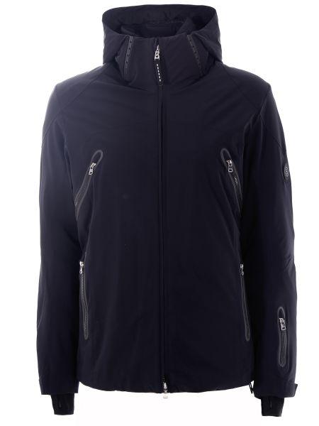 С рукавами черная куртка горнолыжная на молнии с воротником Bogner