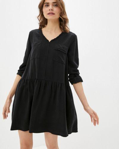 Прямое черное платье А-силуэта United Colors Of Benetton