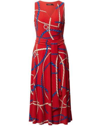 Sukienka midi kopertowa Lauren Ralph Lauren