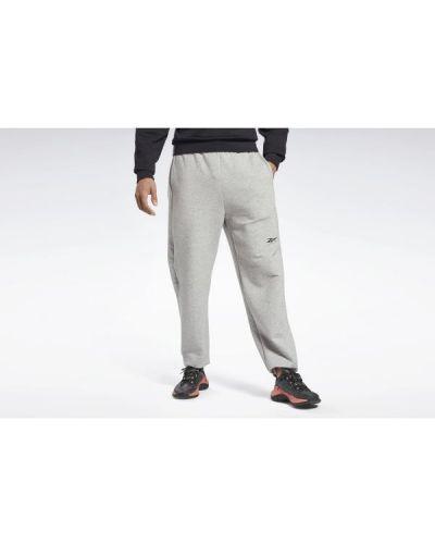 Spodnie dresowe bawełniane - szare Reebok